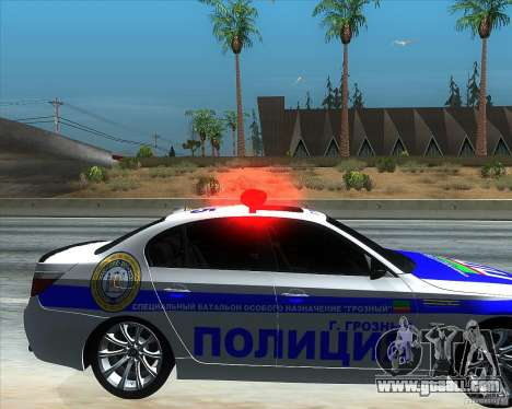 BMW M5 E60 Police for GTA San Andreas right view