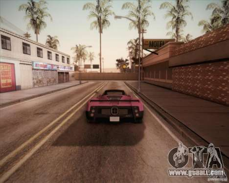 Pagani Zonda F V1.0 for GTA San Andreas left view