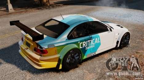 BMW M3 GTR MW 2012 for GTA 4 left view