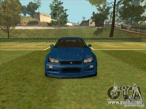 Nissan Skyline GT-R R34 from FnF 4 for GTA San Andreas inner view