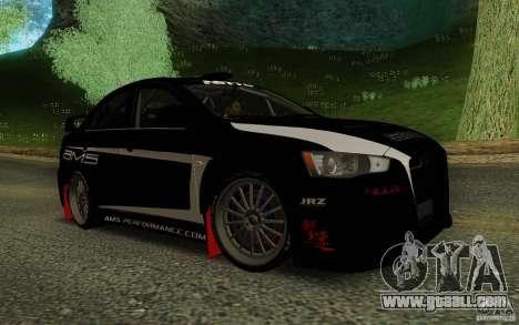 Mitsubishi Lancer Evolution X Tunable for GTA San Andreas back view