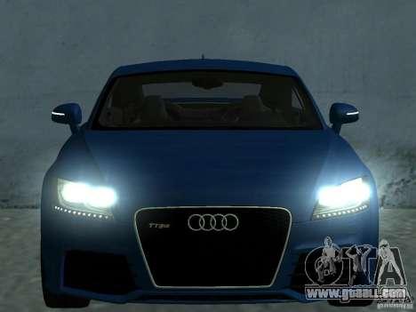 Audi TT RS for GTA San Andreas engine