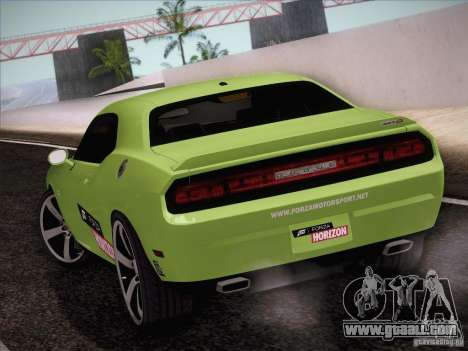 Dodge Challenger SRT8 2010 for GTA San Andreas back left view