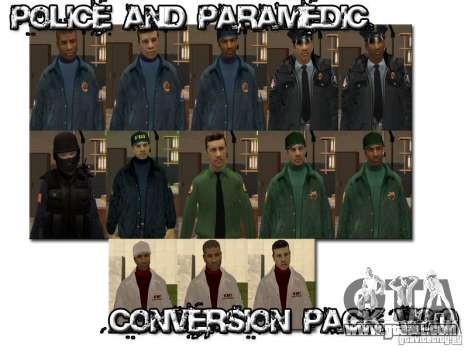 Police and Paramedic Conversion Mod 2.0 for GTA San Andreas