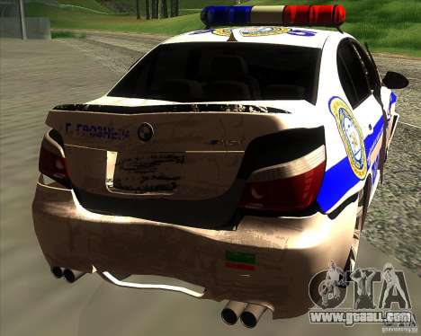 BMW M5 E60 Police for GTA San Andreas engine