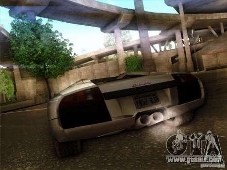 Lamborghini Murcielago Roadster for GTA San Andreas back view