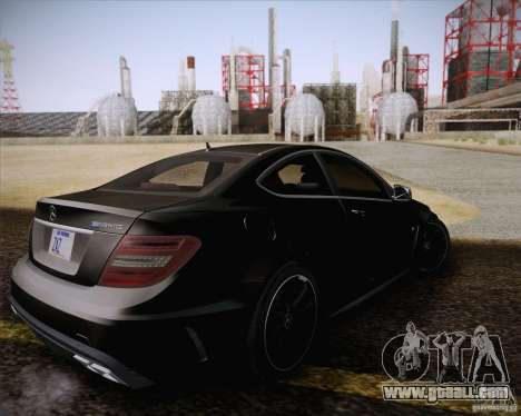Mercedes-Benz C63 AMG Black Series for GTA San Andreas inner view