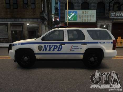 Chevrolet Tahoe NYPD V.2.0 for GTA 4 left view