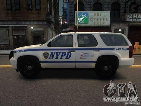Chevrolet Tahoe NYPD V.2.0 for GTA 4 left view