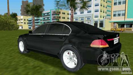 BMW 7-Series 2002 for GTA Vice City back left view