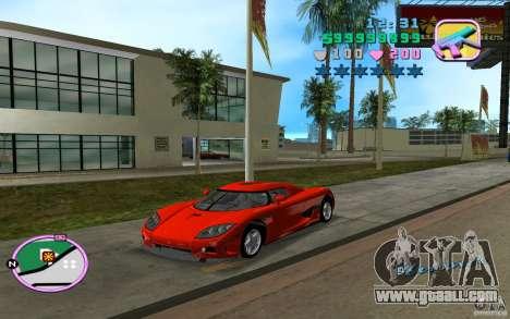 Koenigsegg CCX for GTA Vice City left view
