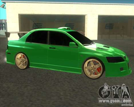 Mitsubishi Lancer Evo 9 Drift style for GTA San Andreas back left view