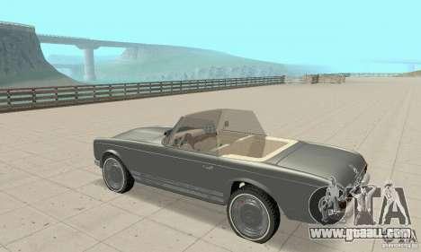 Mercedes-Benz 280SL (Matt) for GTA San Andreas back view