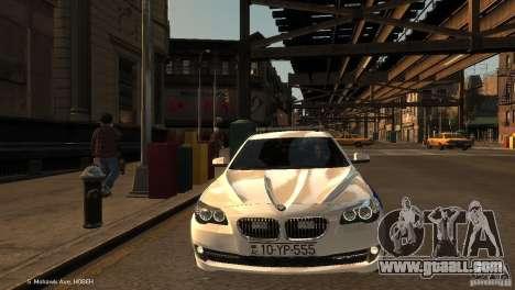 BMW 550i Azeri Police YPX for GTA 4 back view
