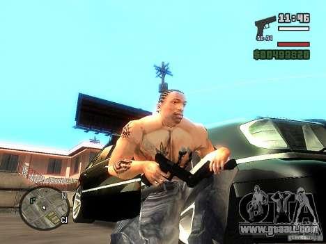 Carbon Glock 17 for GTA San Andreas second screenshot