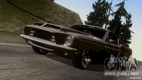 Shelby GT500 1969 for GTA San Andreas inner view