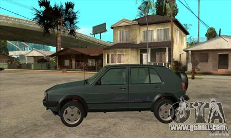 Volkswagen Golf Country MkII Syncro 4x4 1991 for GTA San Andreas left view