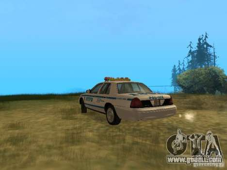 Ford Crown Victoria NYPD Police for GTA San Andreas right view