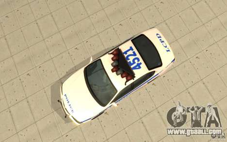 Police Patrol from GTA 4 for GTA San Andreas right view