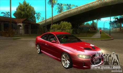 Holden Monaro CV8-R for GTA San Andreas back view