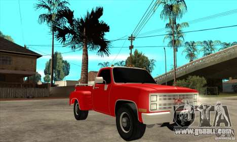 GMC 454 PICKUP for GTA San Andreas back view