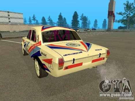 Volga GAZ 24-10 Rally for GTA San Andreas back left view