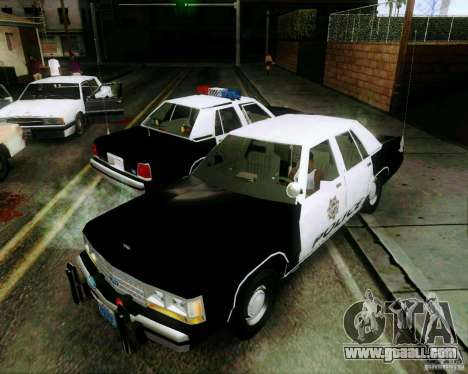 Ford Crown Victoria LTD 1991 LVMPD for GTA San Andreas upper view