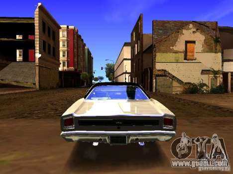 Plymouth GTX 1969 for GTA San Andreas inner view