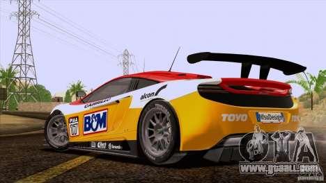 McLaren MP4-12C Speedhunters Edition for GTA San Andreas interior