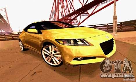 Honda CR-Z 2010 V2.0 for GTA San Andreas upper view