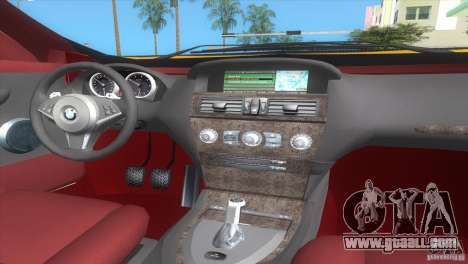 BMW 645Ci for GTA Vice City back left view