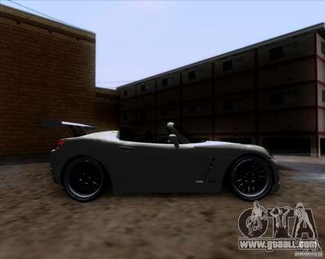 Saturn Sky Roadster for GTA San Andreas inner view