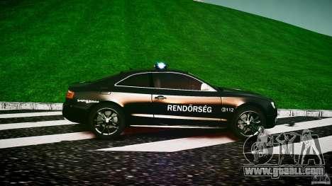 Audi S5 Hungarian Police Car black body for GTA 4 left view