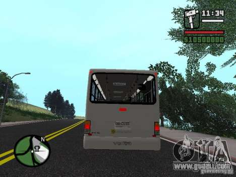 Busscar Urbanus SS Volvo B10M for GTA San Andreas right view