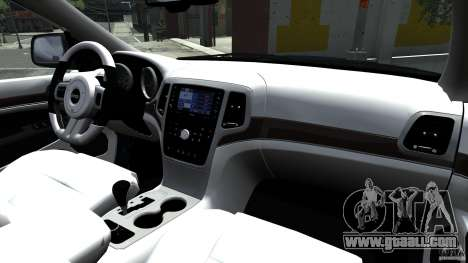 Jeep Grand Cherokee STR8 2012 for GTA 4 inner view