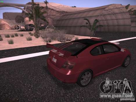Scion tC for GTA San Andreas left view