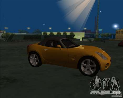Pontiac Solstice for GTA San Andreas left view