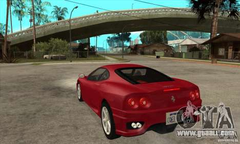 Ferrari 360 Modena for GTA San Andreas back left view