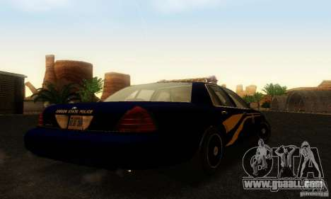 Ford Crown Victoria Orgeon Police for GTA San Andreas left view