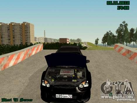 Subaru Impreza WRX for GTA San Andreas back left view