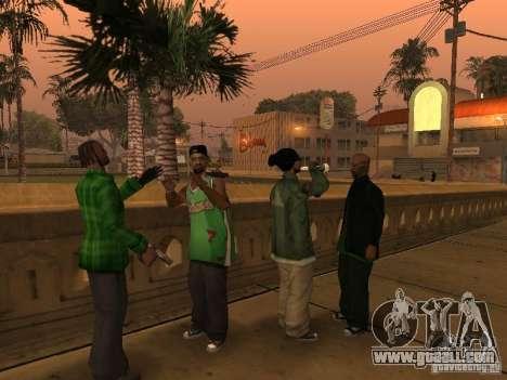 New skins the Grove Street Gang for GTA San Andreas third screenshot