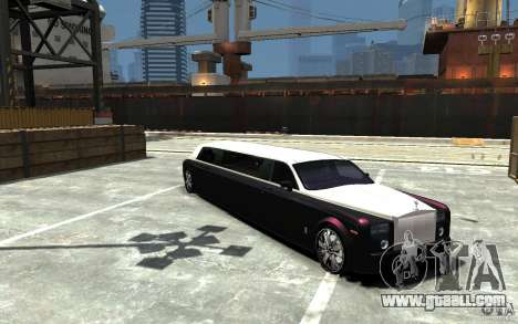 Rolls-Royce Phantom Sapphire Limousine v.1.2 for GTA 4 back view