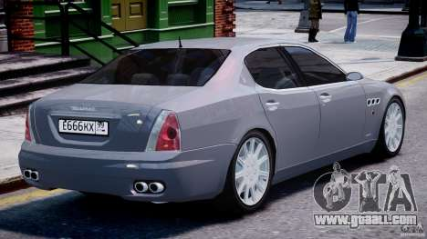 Maserati Quattroporte V for GTA 4 engine