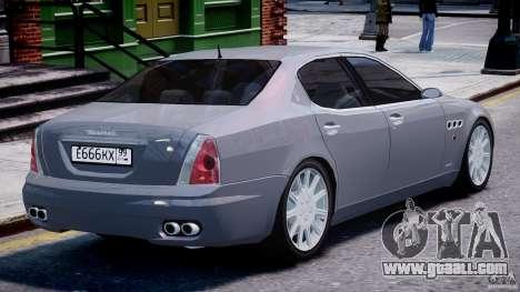 Maserati Quattroporte V for GTA 4 engine