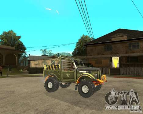 GAZ 69 Trial for GTA San Andreas right view