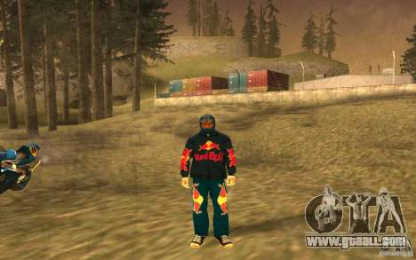 Red Bull Clothes v1.0 for GTA San Andreas