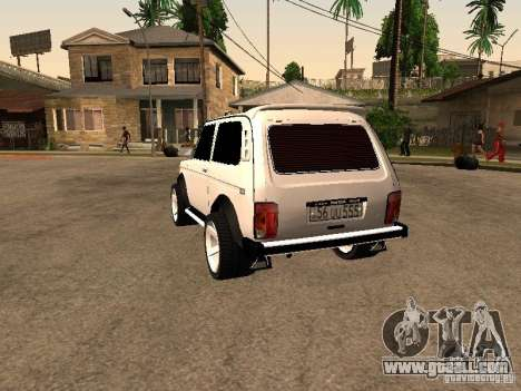 Armenian NIVA DORJAR 4 x 4 for GTA San Andreas back left view