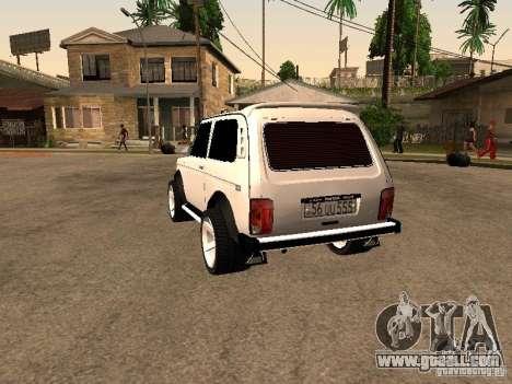 Armenian NIVA DORJAR 4 x 4 for GTA San Andreas back left view