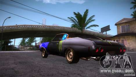 Chevrolet Chevelle SS DC for GTA San Andreas back left view