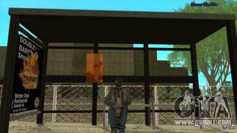 Bus stops in HD for GTA San Andreas third screenshot